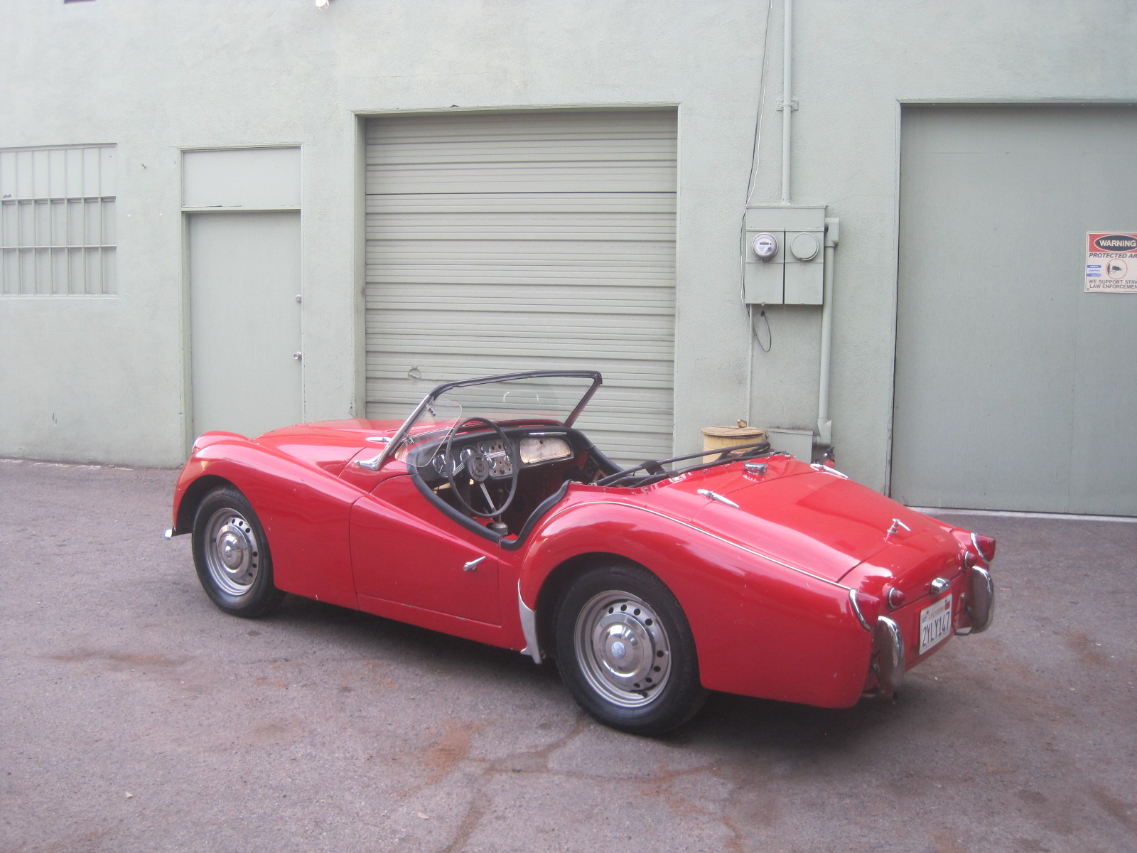 1959 Triumph Tr3 W Overdrive And Factory Steel Hardtop For Sale